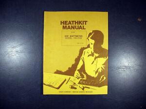 Genuine Heathkit HM-2102 VHF Wattmeter Manual