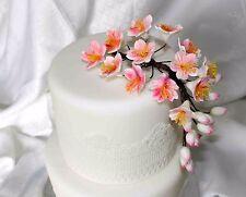 Cherry Blossom Sugar Fleur, Medium, cake topper, gomme pâte, mariage