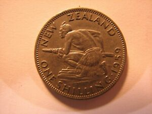 1959 New Zealand One Shilling