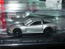 AUTO WORLD 2011 CHEVY CALLAWAY CORVETTE -Silver, ROAD & TRACK w/PLASTIC CASE
