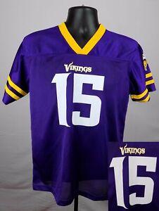 Minnesota Vikings Jersey Boy's Large (12 - 14) #15 Greg Jennings New ST99