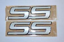 Pearl White SS Emblem Pair Impala Malibu Cobalt Trailblazer HHR 10336980 OEM GM
