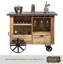 Bar Cabinet Trolley Cart Kitchen Island Industrial Wine Storage