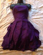 "(#1772) REISS ""FRIDA"" Purple Strapless Occasion Dress Size 6 UK"