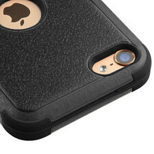 For iPod Touch 5th & 6th Gen - BLACK Hybrid Armor High Impact Rugged Case Cover