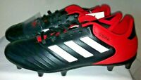 NEW - NWT - ADIDAS - Copa 18.3FG  - Soccer Cleats - Core-Black /Real-Coral  Sz 7