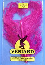 Straußenfeder Ostrich Teilstück aus Prachtfeder Fiberlänge 10 - 15 cm FLUO PINK
