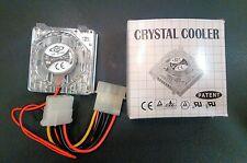 586 Pentium CPU Crystal Cooler 53x53x25.3 mm Fan Heat Sink Socket CF-002 DC120SM