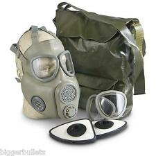 Czech Unissued M10 Gas Mask With Filters and OD Carry Bag
