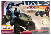 McFarlane Halo 3 Series 6 Mongoose w Spartan CQB Crimson TRU Exclusive 2009 NEW