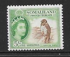 SOMALILAND SG147 1953 5/- RED-BROWN & EMERALD MNH