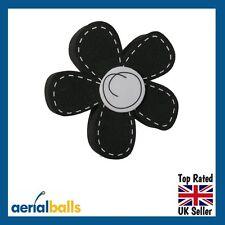 SALE...Black Daisy Flower Car Aerial Ball Topper or use as Dashboard Wobbler