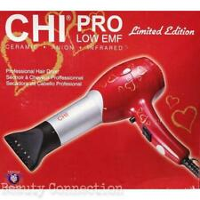 CHI Pro Red with Hearts Design Ceramic Professional Low EMF Hair Dryer with Diff