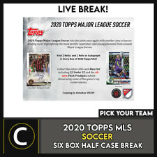 2020 Caja de 6 de fútbol TOPPS MLS (mitad Case) romper #S110 - Elige Tu Equipo