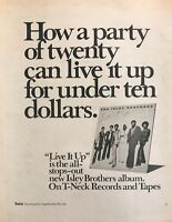 """1974 The Isley Brothers photo """"Live It Up"""" Album Release vintage promo print ad"""