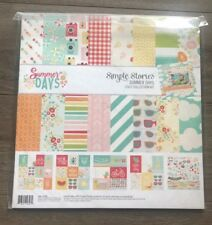 Simple Stories Summer Days Scrapbook & Card Kit + Sticker Embellishments NEW
