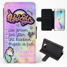 Unicorn Samsung Galaxy Phone Case Reasons to be a Phone Flip Funny Cover Gift