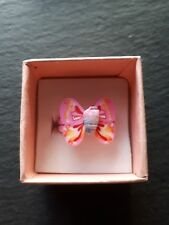 Brand new childs light pink butterfly ring size G.5! Fine jewellery!