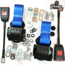 Classic MG Front Pair Fully Automatic Inertia Blue Seat Belt Kits E Approved