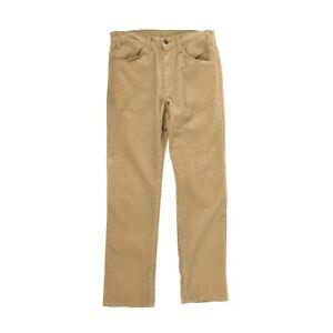Vintage 70s Levis White Tab Retro 536 Light Brown Slim Straight Corduroy Pants