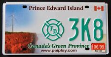 "CANADA "" PRINCE EDWARD ISLAND FIREFIGHTER WINDMILL "" PEI Specialty License Plate"