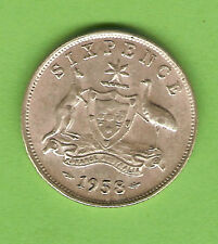 1958 AUSTRALIAN SILVER SIXPENCE COIN