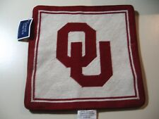"""Collegiate Collection: University of Oklahoma 13""""x 13"""" pillow sham cover (NEW)"""