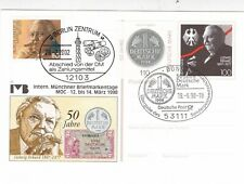 Germany 1998 50th anniversary of the Deutschmark Special cancel Postal Card Vgc