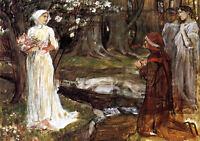 Framed Print - Dante & Matilda by John Waterhouse 1915 (Oil Painting Style Art)