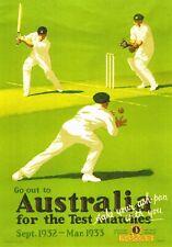 ART DECO CRICKET AUSTRALIAN TEST MATCH. 1932-33. A 4 SIZE PHOTO PRINT.