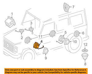 MERCEDES OEM 16-18 G550-Front Door Speaker 4638201202