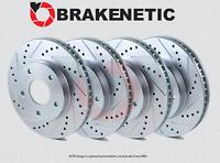 [FRONT + REAR] BRAKENETIC SPORT Drilled Slotted Brake Disc Rotors BSR74258