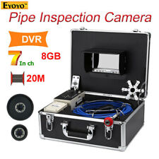 Eyoyo 20m Pipe Sewer Inspection Video Camera 7'' LCD Screen Industrial Monitor