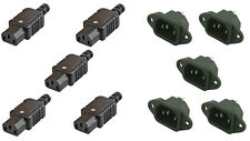 5 x Heavy Duty Female + 5 x Male Chassis IEC C14 Socket Plug Mains Power