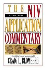 1 Corinthians The Niv Application Commentary - Blomberg, Craig - New Hardcover B