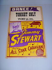 JIMMY STEWART & HIS ALL STAR CARAVAN WESTERN SWING ROCKABILLY 50's MUSIC POSTER