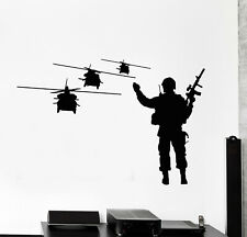 Vinyl Wall Decal Soldier Helicopters Aviation Army Air Force Stickers (g932)