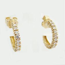Ohrringe Gold 750 0,48 ct. Brillanten Goldohrringe 18 ct. Creolen exclusiv