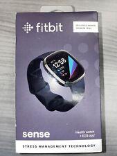 *New* Fitbit Sense Fitness Health & Stress Tracker Smartwatch Black Nib