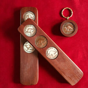 2000 Birthday Anniversary Gift Present Two-Up Game & Penny Keyring Gift Pack