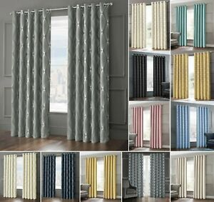 Thermal Insulated Sun Block Out Curtain Pair Ready Made Eyelet Ring Top 3 Pass