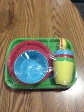 Childrens' 24-Piece Dinnerware Set Pastel Colors Kids' by Mainstays BPA Free New