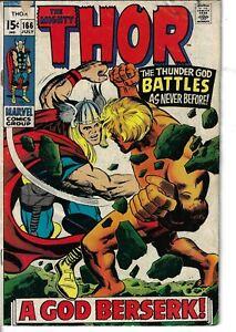 Thor 166 Adam Warlock VG 1969 Glossy