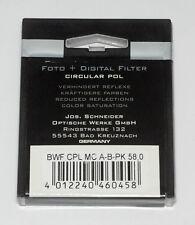 Praktica Pol-Filter MC 58mm circular Schneider-Kreuznach Germany (NEU/OVP)