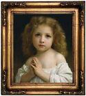 Bouguereau Little Girl 1878 Wood Framed Canvas Print Repro 12x14