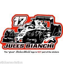 "JULES BIANCHI JB 17 Formula 1 F1 130mm(5"") Sticker Aufkleber Adesivo Autocollant"
