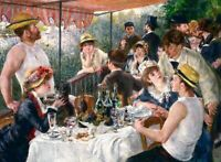 Canvas Prints Renoir 1881, Luncheon of the Boating Party Framed & Ready to Hang