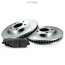Rear Slotted Brake Rotors Disc and Ceramic Pads For Avalanche,Suburban 1500