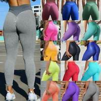 Women Anti Cellulite Yoga Pants High Waist Push Up Leggings Scrunch Trousers Gym