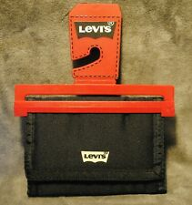 LEVIS ~ MENS WALLET~BLACK POLYESTER TRIFOLD~ GREAT FOR ACTIVE GUYS ~ BRAND NEW ~